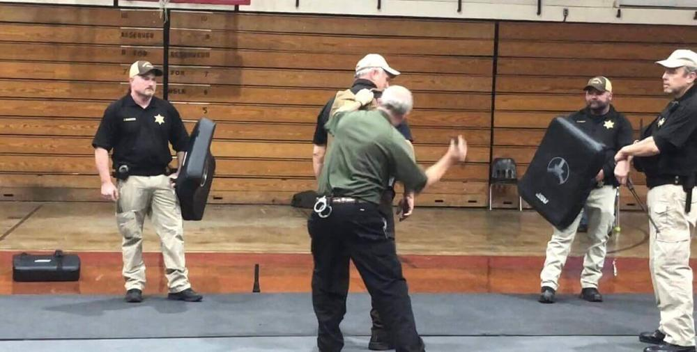 Reserve Deputies during training