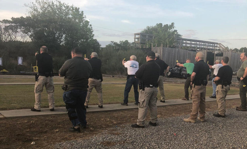 several deputies at shooting range