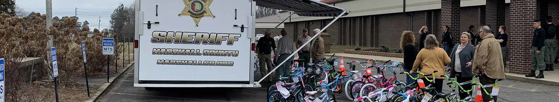 Sheriff Office Giving out Bikes to Kids